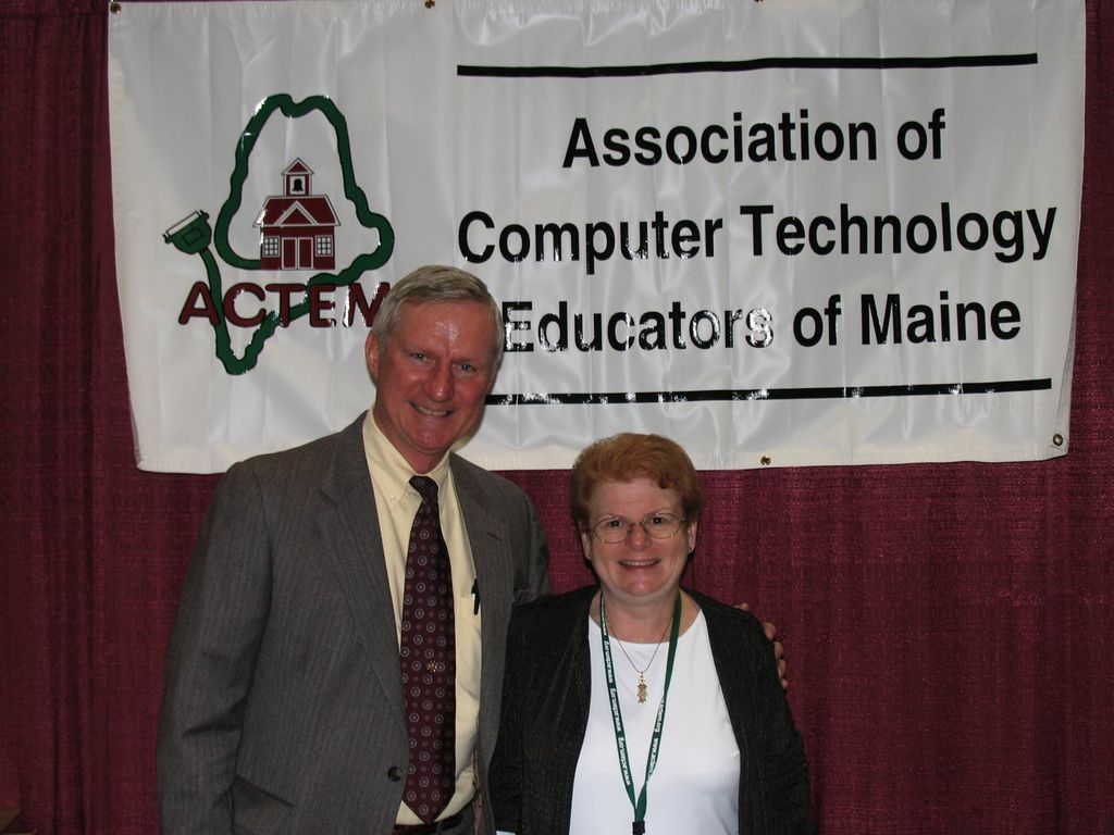 John Lunt and Betsy Caswell at the MAINEducation Conference.